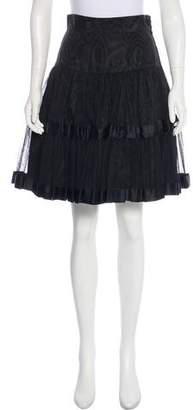 Christian Dior A-Line Knee-Length Skirt