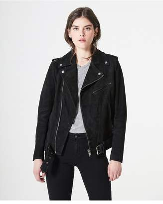 AG Jeans The Reese Moto Jacket - True Black