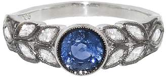Cathy Waterman Small Blue Sapphire Garland Ring - Platinum