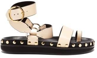 Isabel Marant Nirvy Stud Embellished Leather Sandals - Womens - Cream