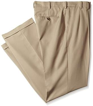 Izod Men's Big and Tall Double Pleated Solid Twill Pant