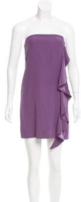 Elizabeth and James Strapless Silk Dress
