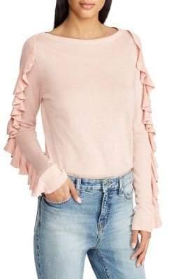 Lauren Ralph Lauren Ruffled-Sleeve Sweater