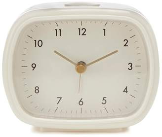 Debenhams White Retro Alarm Clock
