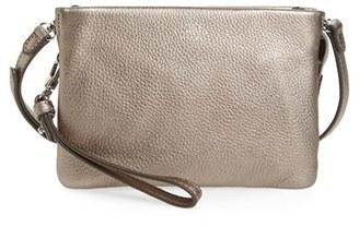 Vince Camuto 'Cami' Leather Crossbody Bag - Metallic $128 thestylecure.com