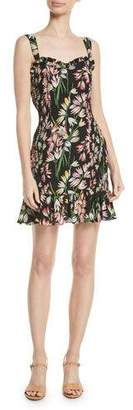 LIKELY Charleigh Smocked Floral Sleeveless Flounce Dress