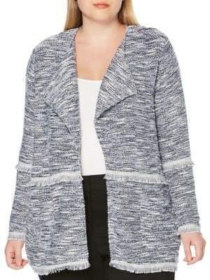 Rafaella Plus Open-Front Long-Sleeve Jacket