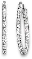 Bloomingdale's Inside Out Diamond Hoop Earrings in 14 Kt. White Gold, 0.50 ct. t.w. - 100% Exclusive