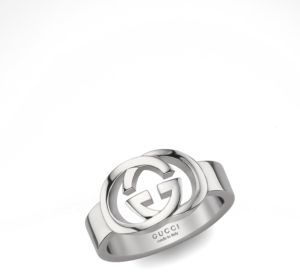 Gucci Gucci Sterling Silver Double G Ring