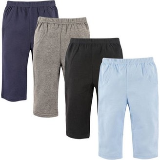 Luvable Friends Baby Boy Pants, 4-Pack