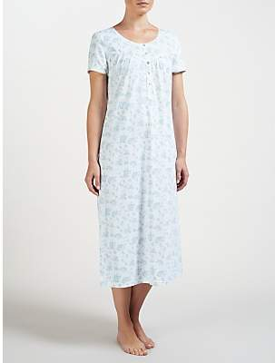 John Lewis   Partners Rei Floral Short Sleeve Cotton Nightdress 2a0e4dd2d