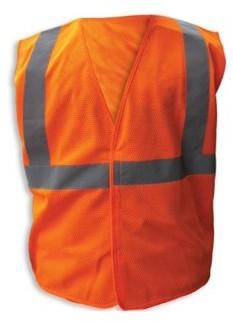 Enguard ORANGE Poly Mesh Reflective Safety Vests, Class 2 - L, 3-Pack