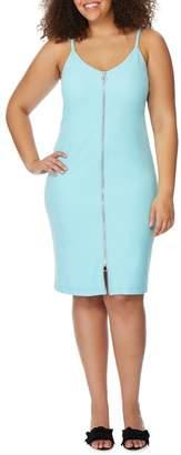 Wilson Rebel X Angels Zip Front V-Neck Dress (Plus Size)
