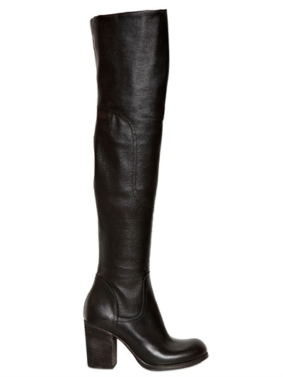 Strategia 80mm Eco Leather Over-The-Knee Boots