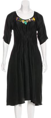 Megan Park Embellished Midi Dress