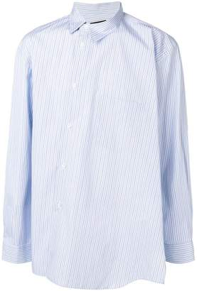 Comme des Garcons oversized pinstriped shirt