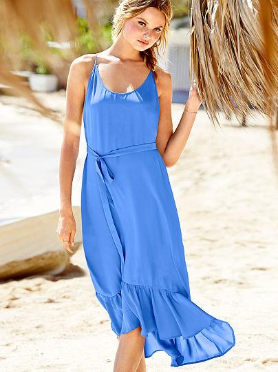 Victoria's Secret Ruffle Maxi Dress