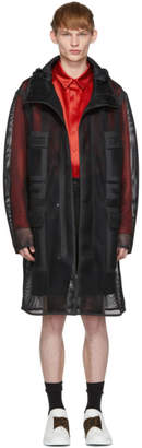Fendi Black Mesh Mania Hooded Coat