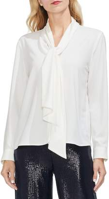 Vince Camuto Tie Neck French Crepe Blouse