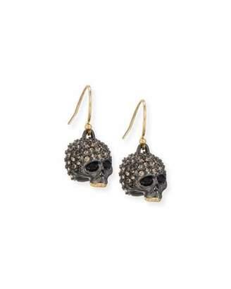 Alexis Bittar Petite Crystal-Encrusted Skull Earrings $125 thestylecure.com