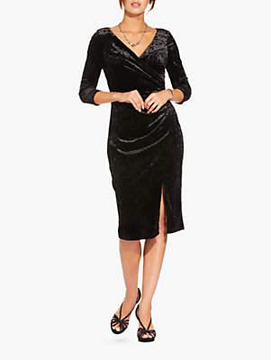Short Velvet Dress, Black