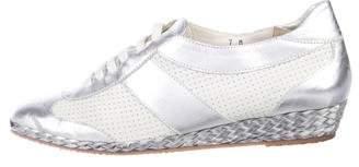Sesto Meucci Metallic Low-Top Sneakers