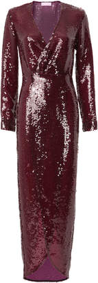 Fleur Du Mal Sequin Wrap Dress