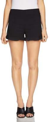 1 STATE 1.STATE Ruffle-Cuff Mini Shorts