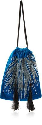 ATTICO Velvet Embroidered Pouch Bag