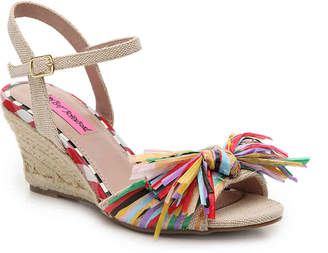 Betsey Johnson Lizzie Espadrille Wedge Sandal - Women's