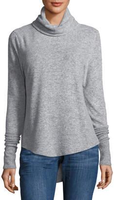 Sweet Romeo Cowl-Neck Brushed-Knit Sweater