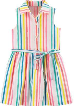 1f4e5d2c57b Carter s Toddler Girl Rainbow Striped Shirt Dress