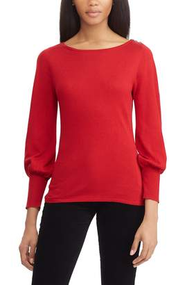 Chaps Women's Button-Shoulder Sweater