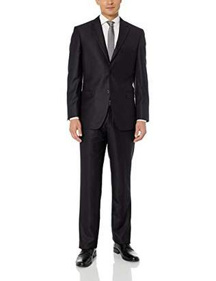 Exte SE SALVATORE Men's Two Button Sharkskin Suit