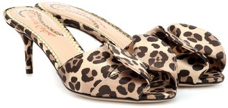 Charlotte Olympia Satin leopard-printed mules
