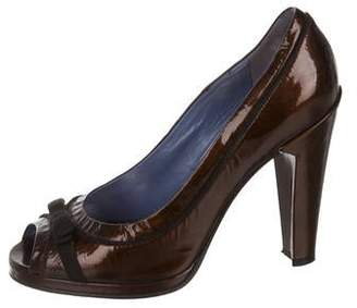 Marc by Marc Jacobs Patent Leather Peep-Toe Pumps