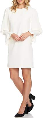 CeCe Flutter Sleeve Crepe Shift Dress
