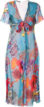Paul Smith floral print scarf neck dress