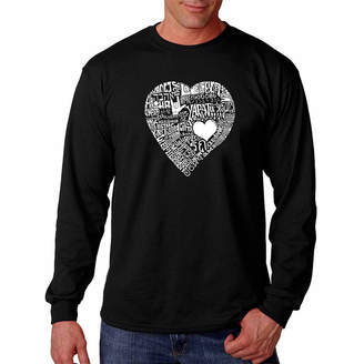 LOS ANGELES POP ART Love In 44 Different Languages Long Sleeve T-Shirt