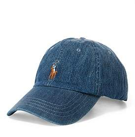 Polo Ralph Lauren Mens Denim Baseball Cap