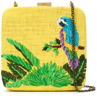 Serpui embroidered clutch bag