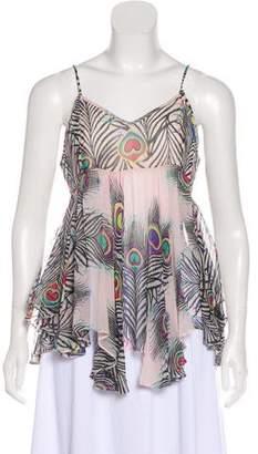 Matthew Williamson Silk Printed Sleeveless Top