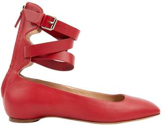 Valentino Red Leather Ballet flats