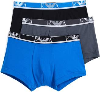 Emporio Armani 3 Pack Monogram Trunks
