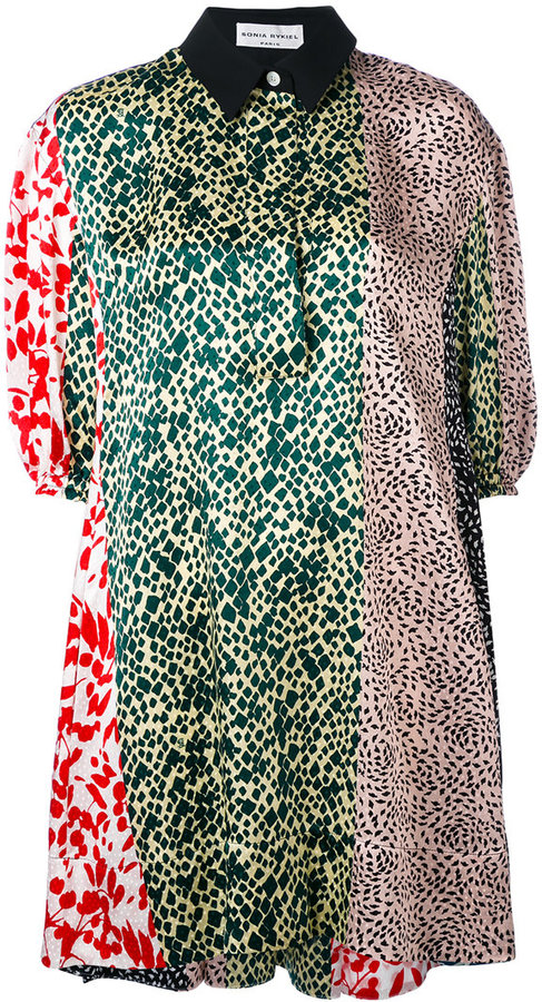 Sonia RykielSonia Rykiel multi-print shirt dress