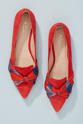Anthropologie Knotted Bow Flats