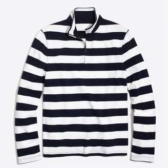 J.Crew Factory Sueded cotton jersey half-zip pullover