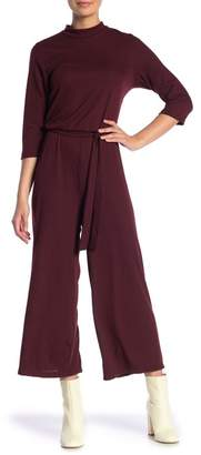 Velvet Torch 3\u002F4 Sleeve Mock Jumpsuit