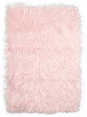 """Elle Kids 23.6"""" x 35.4"""" Arctic Polar Faux Fur Rug"""
