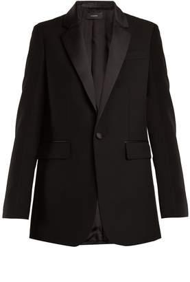 Joseph Jan single-breasted contrast-trim wool blazer